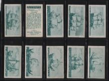 Tobacco insert cards Cigarette cards Old Ships 1936 set